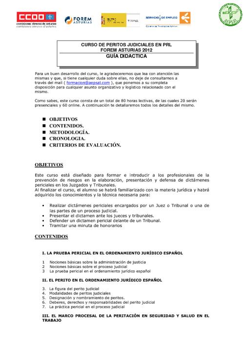 Guía Didáctica Peritos Judiciales PRL
