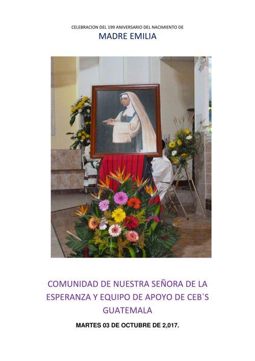 CELEBRACION DEL 199 ANIVERSARIO DEL   NACIMIENTO DE NUESTRA FUND