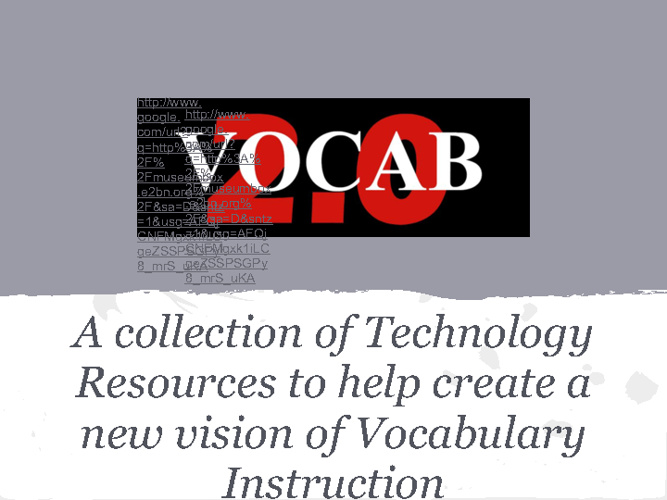 Vocabulary and Technology by Julie Randolph