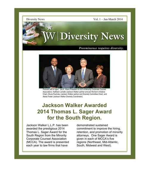 Jackson Walker Diversity Newsletter