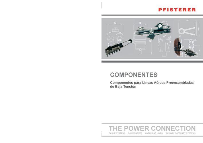 Catálogo de Componentes para líneas aereas de BT