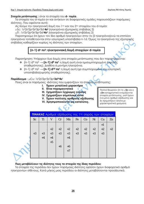 ΚΕΦ 1ο ατομικές ακτίνες και ενέργεια ιοντιμού 2014