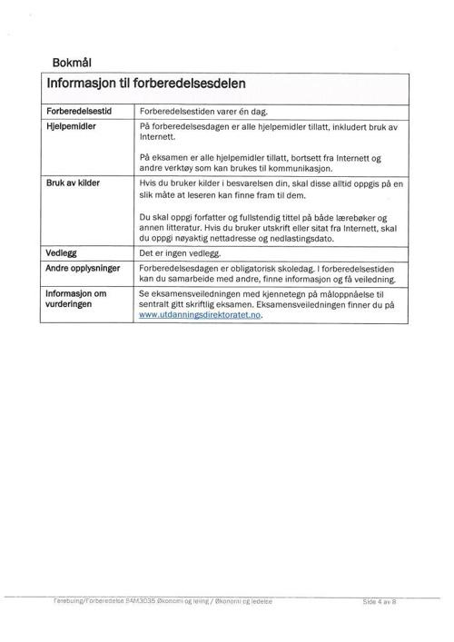 Høst 2013 - Forberedelse og oppgavetekst