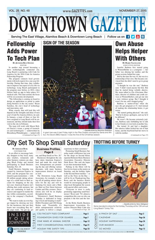 Downtown Gazette  |  November 27, 2015