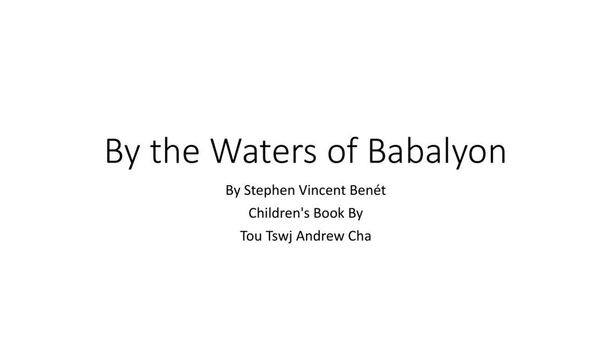 By the Waters of Babalyon