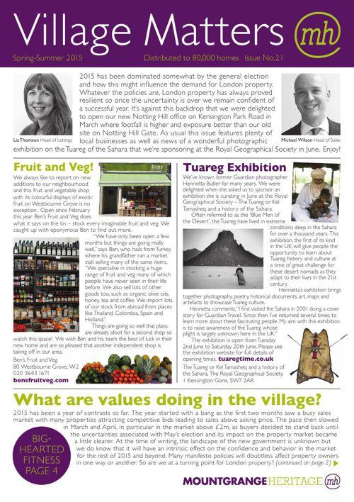 Village Matters - Spring-Summer 2015