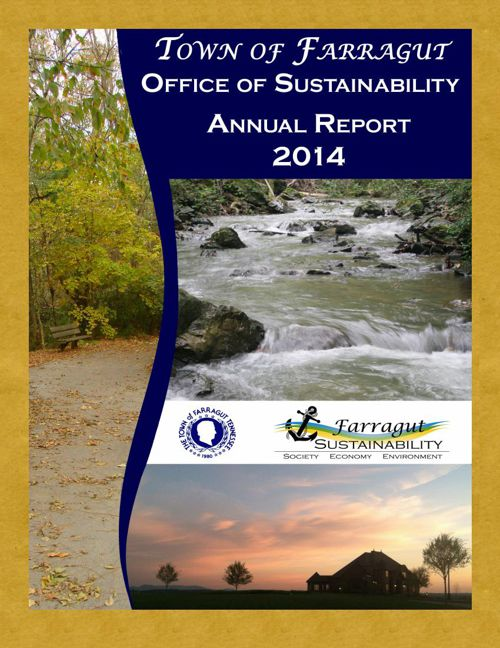 Town of Farragut Annual Sustainability Report 2014