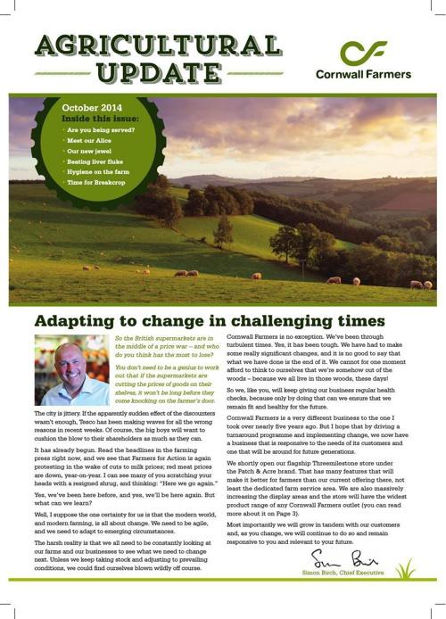 Agricultural Update - October 2014