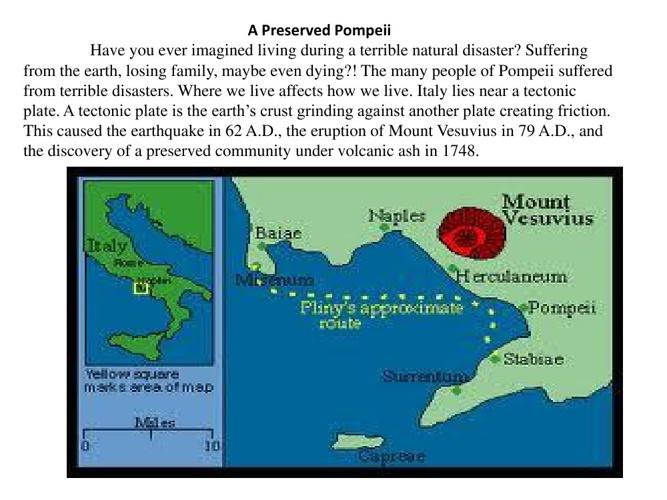 Mount Vesuvius and the Earthquake in Pompeii
