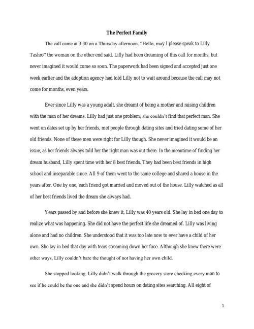 Long Fiction Final Draft