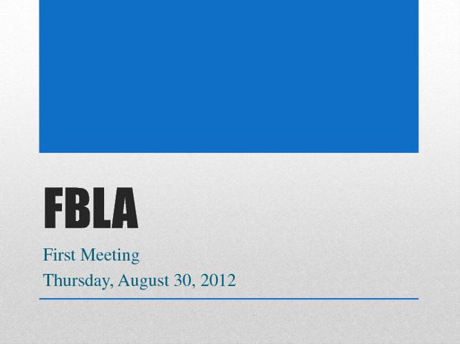 Meeting Agenda - August 30, 2012