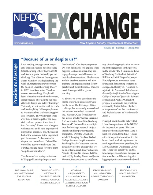Exchange Publication Spring 2013