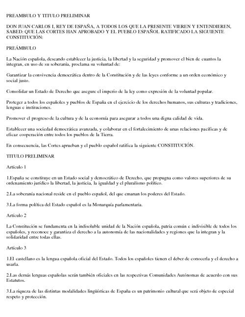 Constitución España