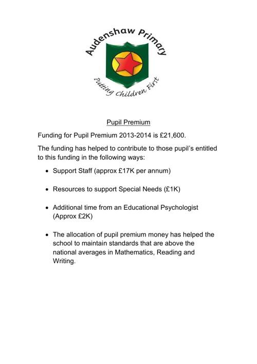 Pupil Premium 2013-2014