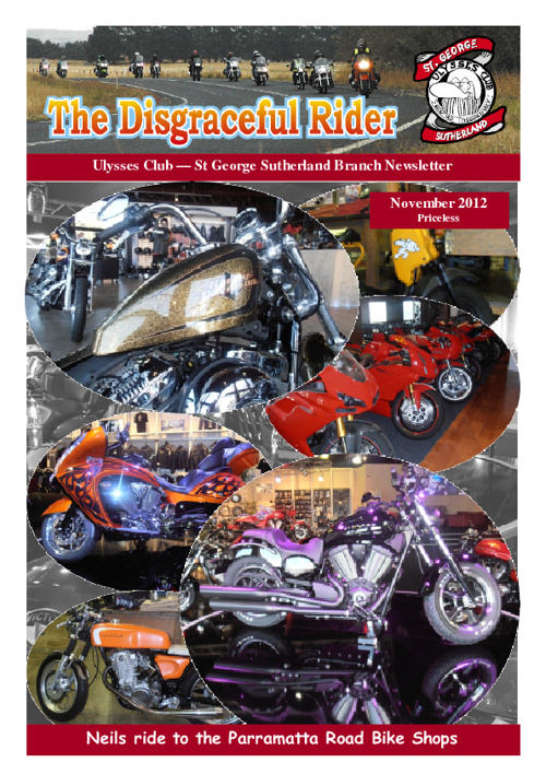 The Disgraceful Rider November 2012