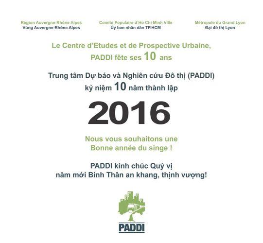 Carte de Voeux 2016 du PADDI
