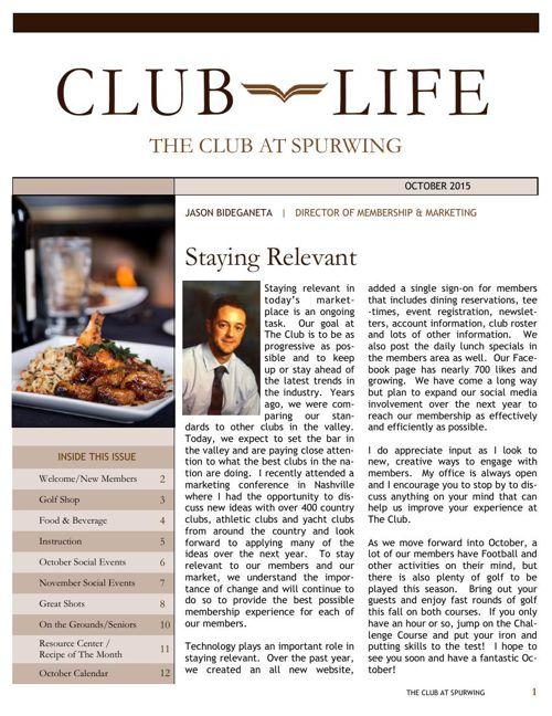 Club Life October 2015