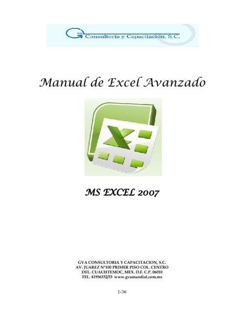 """""""MANUAL DE EXCEL"""""""