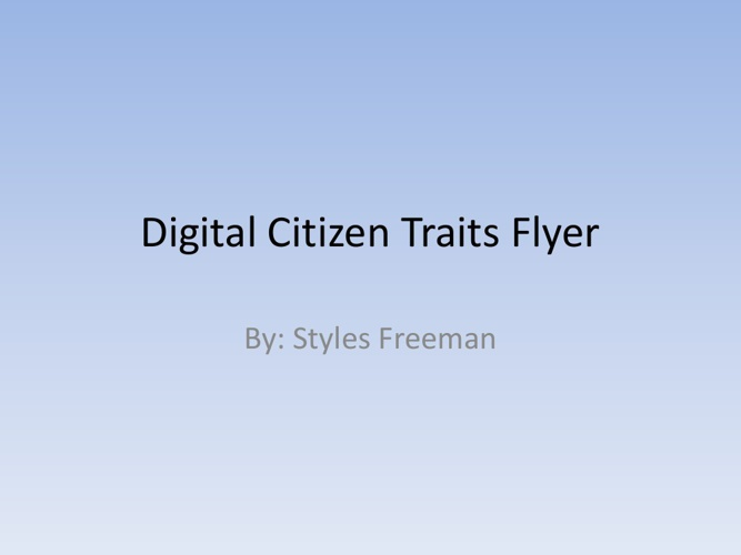 Digital Citizen Traits Flyer