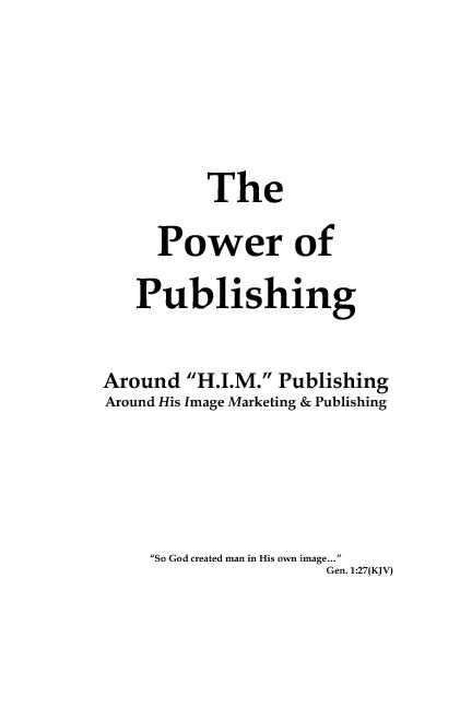 The Power of Publishing