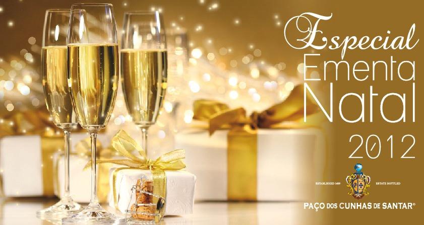 Ementa de Natal 2012 Paço dos Cunhas