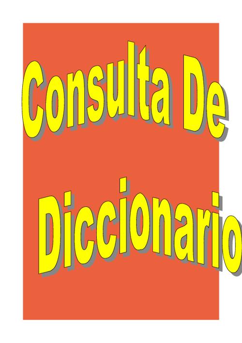 Consulta de diccionario