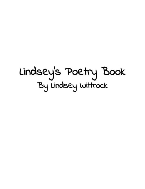 Lindsey's Poetry Book
