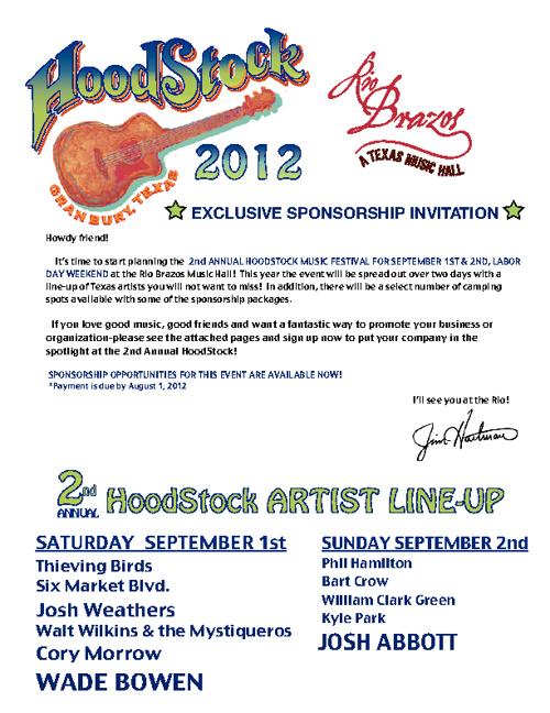 HoodStock Sponsorship