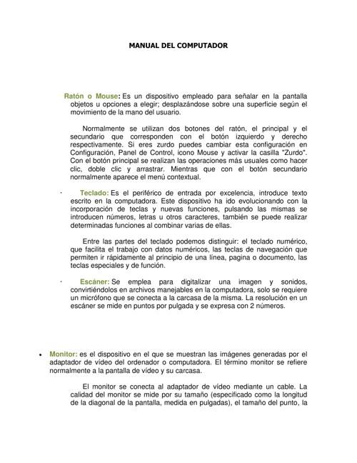 manual del uso del computador