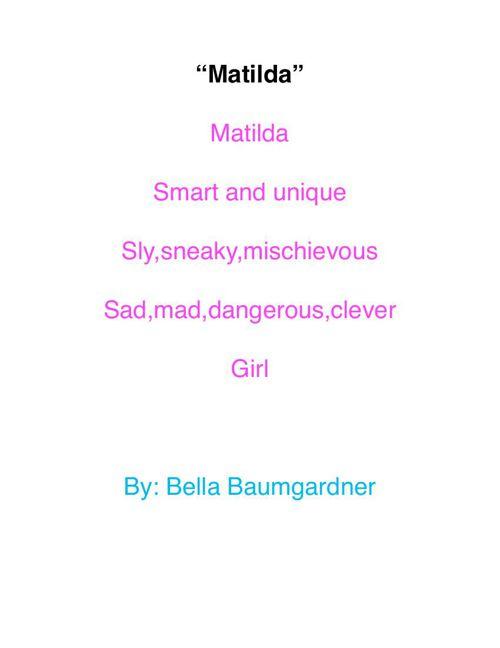 My Poetry Book by: Bella Baumgardner