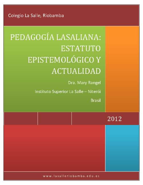 Modelo Pedagógico Lasallista 2012 - 2013