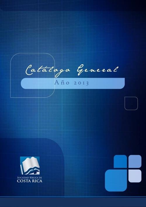 Catálogo Sociedad Bíblica de Costa Rica 2013