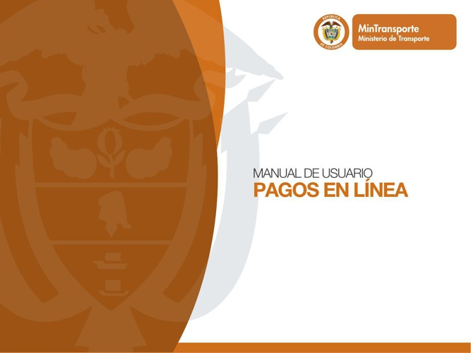 manual Sistema Pagos en Linea Ministerio de Transporte