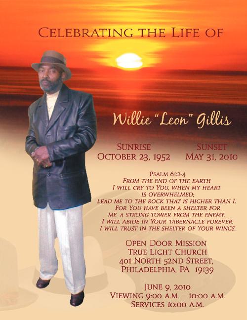 W. Gillis Funeral Program
