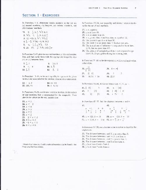 Precalculus Prerequisites