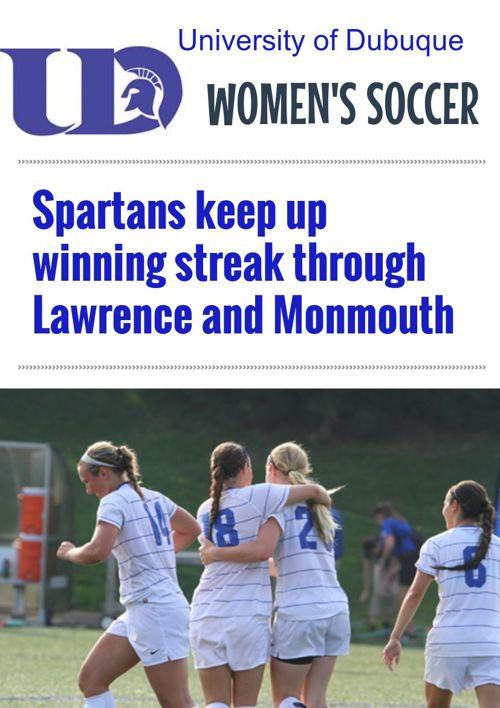 UD Women's Soccer Weeks 2-3