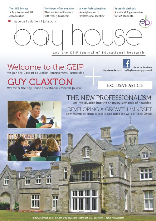 Bay House and GEIP Educational Research Journal Number 2