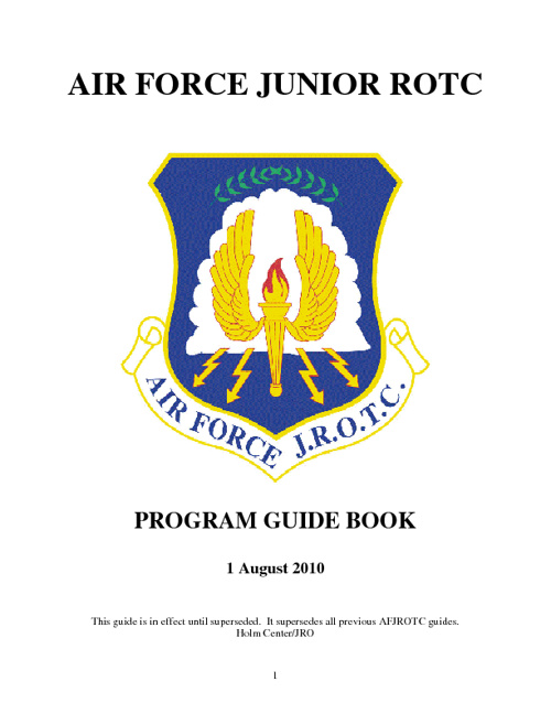 AF JROTC Consolidated Guide