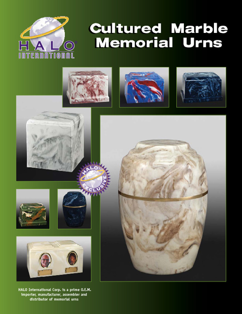 Halo's Cultured Marble Urn Catalog