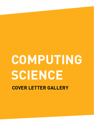 Cover Letter Gallery (COMPUTING SCIENCE / SOFTWARE SYSTEMS)