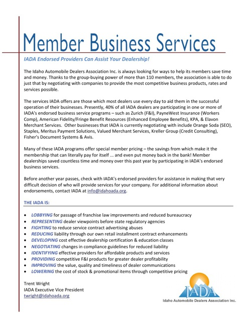 Member Business Services