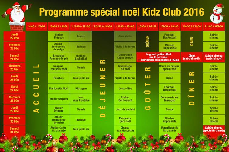 Programme enfants noel 16