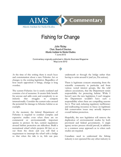 Fishing for Change