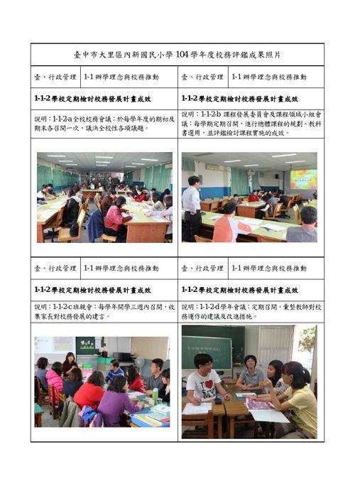 1-1-2學校定期檢討校務發展計畫成效