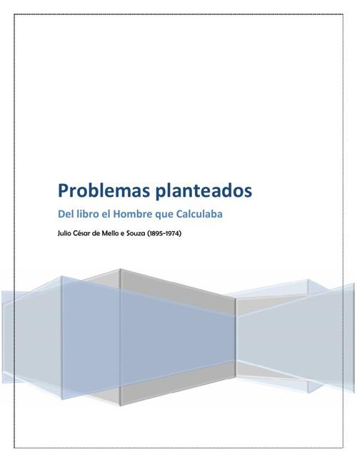 Problemas del libro EL HOMBRE QUE CALCULABA. by Cesia Barrios