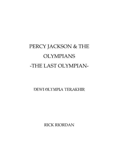 Rick Riordan - Percy Jackson & the Olympians - Dewi Olympia Tera