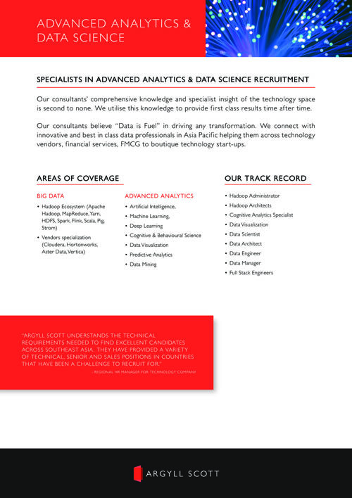 Argyll Scott - APAC Advanced Analytics & Data Science
