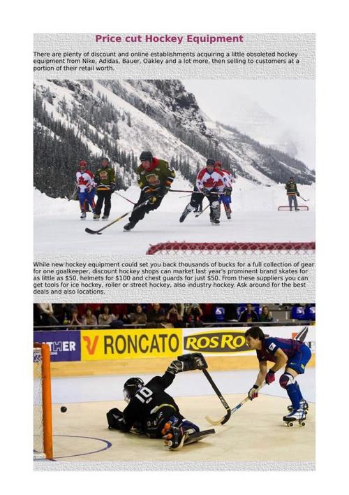 Price cut Hockey Equipment