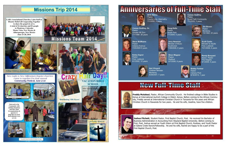 Single pages of July August Newsletter 2014