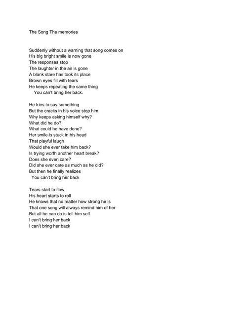 Writing the feelings